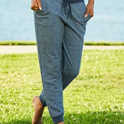 Women's Denim Fleece Jogger Thumbnail