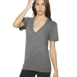 American Apparel Unisex Tri-Blend S/S Deep V-Neck T-Shirt Thumbnail