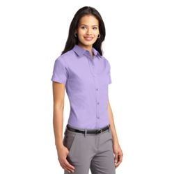 L508 Ladies Short Sleeve Easy Care Shirt As Low As $18.95 Embroidered Thumbnail