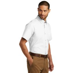 W101 Short Sleeve Carefree Poplin Shirt As Low As $18.95 Embroidered Thumbnail