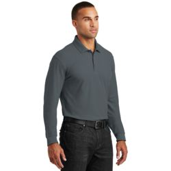 Long Sleeve Core Classic Pique Polo As Low As $17.50 Embroidered Thumbnail