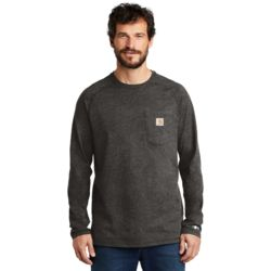 CT100393 Carhartt Force ® Cotton Delmont Long Sleeve T Shirt Thumbnail