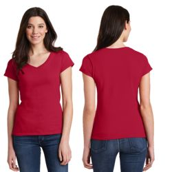 64V00L Gildan Softstyle Women's V-Neck T-Shirt Thumbnail