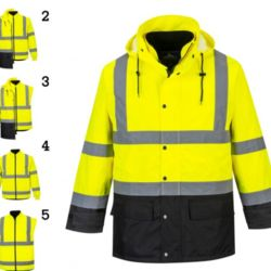 PORTWEST HI-VIS EXECUTIVE 5-IN-1 JACKET - US768 Thumbnail