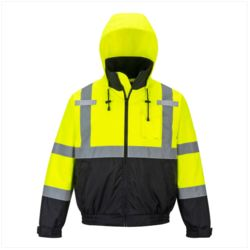 US364 - Portwest Hi-Viz Premium 2-in1 Safety Bomber Jacket As Low As $39.95 Embroidered Thumbnail