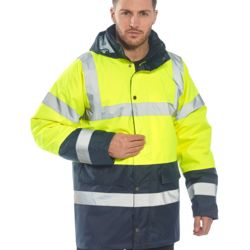 US466 PORTWEST HI-VIS CONTRAST TRAFFIC JACKET As Low As $35.25 Embroidered Thumbnail