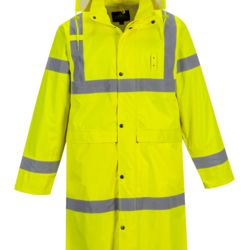 UH445 - PORTWEST HI-VIS CLASSIC RAIN COAT As Low As $30.95 Embroidered Thumbnail