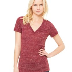 Women's Deep V-Neck Jersey Tee - 6035 Thumbnail