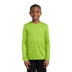 Youth Long Sleeve PosiCharge ® Competitor™ Tee YST350LS Thumbnail