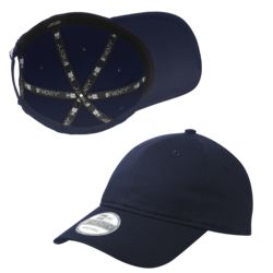 New Era Adjustable Unstructured Cotton Cap NE201 ON SALE $10.45 at 144 with 6,000 stitch embroidery Thumbnail