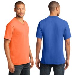 PC54V Core Cotton V Neck Tee As Low As $4.50 with 1 Color Screen Print Thumbnail