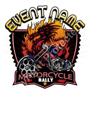 Motorcycle rally Template