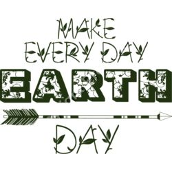 Make Every Day Earth Day - Earth Day T-Shirt Design Thumbnail