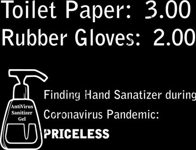 Hand Sanitizer Priceless Coronavirus COPID-19 Pandemic Tshirt Design