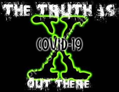 The Truth Is Out There X Files COVID-19 Cornavirus Pandemic Tshirt Design