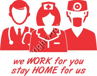 Stay Home for Us Nurse Doctor EMT COVID-19 Cornavirus Pandemic Tshirt Design