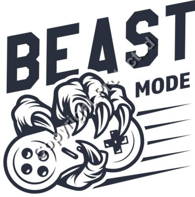 Beast Mode Vintage Game Controller - Gamer Gaming T-Shirt Designs for Gamers