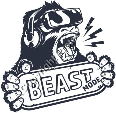 Beast Mode Bigfoot Gamer - Gamer Gaming T-Shirt Designs for Gamers