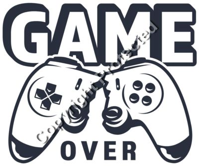 Game Over Broken Game Controller - Gamer Gaming T-Shirt Designs for Gamers