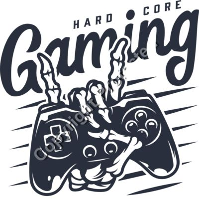 Hardcore Skeleton Game Controller Emblem - Gamer Gaming T-Shirt Designs for Gamers