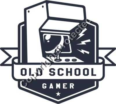 Old School Arcade Game Emblem - Gamer Gaming T-Shirt Designs for Gamers
