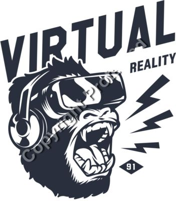 Virtual Reality Beast Mode Emblem - Gamer Gaming T-Shirt Designs for Gamers